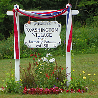 Washington Village Sign